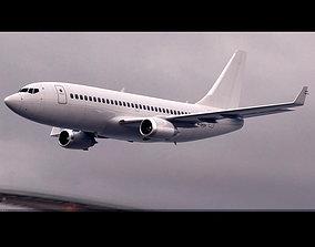 Boeing 737-700 Deflaut White 3D model