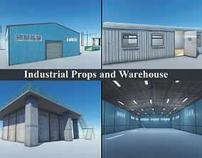 Industrial Props and Warehouse 3D asset