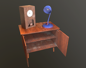 3D asset Old Furniture Pack2 Dirty