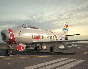 North American F-86 Sabre 3D model models