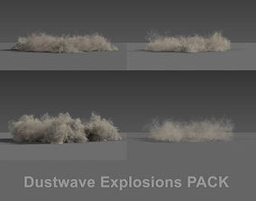 Dust wave Explosions PACK VDB 3D model