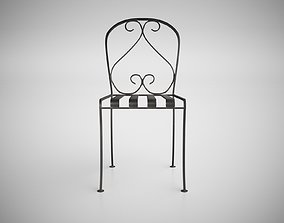 wroughtiron Vintage Wrought Iron Chair 3D model