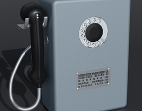 3D asset PayPhone Old