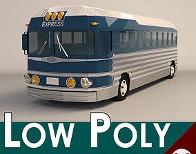 3D model Low Poly Cartoon Intercity Bus