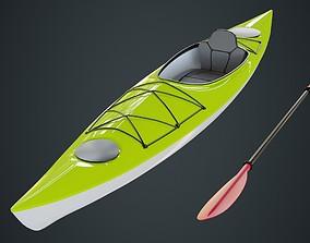 Kayak 2 Untextured 3D