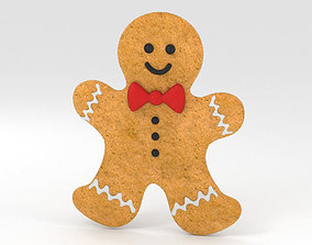Gingerbread Man 3D model cookie