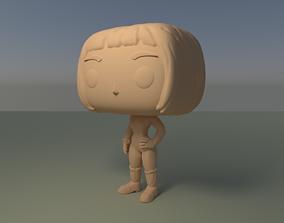 Custom Pop Female Short Hair Figure 3D Print Model