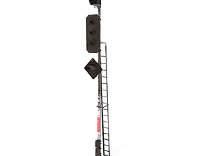 3D Train Traffic Light Weathered 19