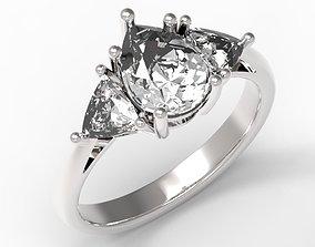 3DM Wonderful teardrop ring jewelry design