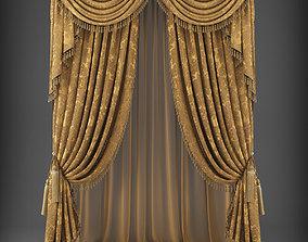3D asset game-ready curtain Curtain
