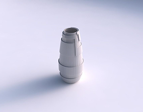 Vase Bullet with sharp ribbons 3D printable model