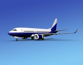 Boeing 737-700ER Corporate 4 3D