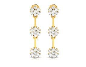 jewelry Women earrings 3dm render detail