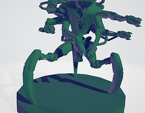 3D printable model Space robot sixshooter