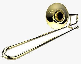 3D model low-poly Trombone