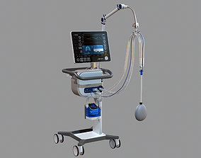 3D model Medical Ventilator HAMILTON-C6 ICU Oxygen 1