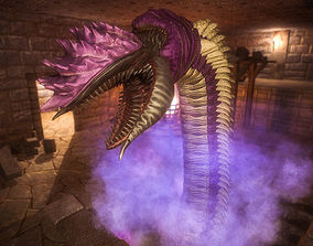 3D model Giant Worm Pack PBR