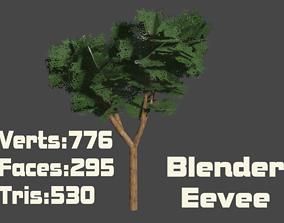 3D asset Jatoba Tree PBR Lowpoly