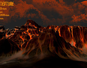 Volcano 3D asset low-poly
