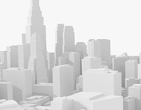 Schematic low poly city 3D model