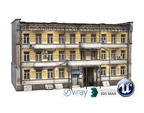 Dirt Apartment Duilding Russia 09 3D model