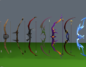 Bow and Arrow Set 3D asset