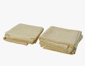 3D model folded towels bath