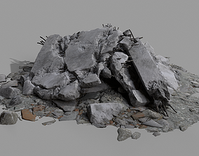 3D asset Ruin Debris Rubble 04