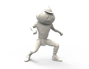 3D print model brutus buckeye mascot