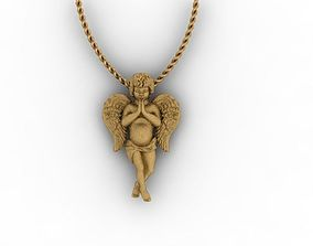 baby angel necklace 3D printable model
