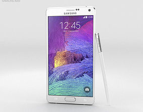 3D Samsung Galaxy Note 4 Frosted White