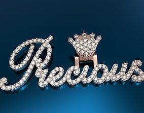 3D print model pendants Precious pendant