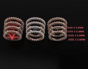 3D printable model Dainty Infinity Diamond band 2mm Mix 4