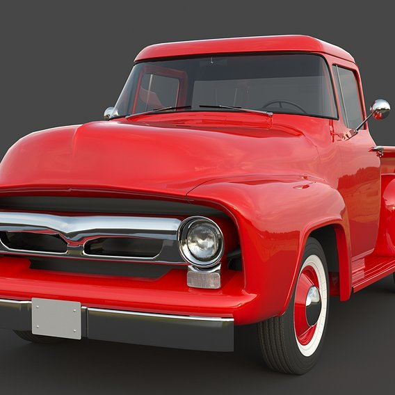 Pickup Red Truck