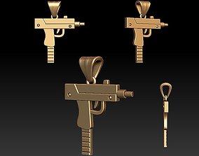 uzi 3D printable model Gun pendant