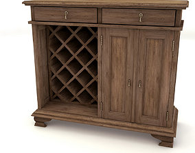 3D model low-poly OLD WINE SIDEBOARD