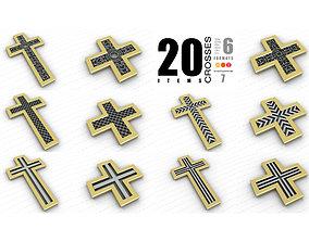 ornament Crosses Vol 7 3D