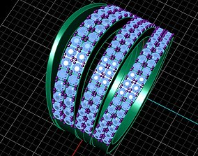 3D model Woman Ring 4 Rounds Design by MrMorokort