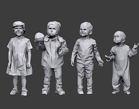Lowpoly Children Pack 3D model