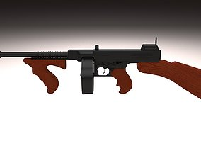 3D Thompson 1928 Tommy Gun