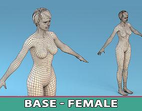 Base Character Female 3D model