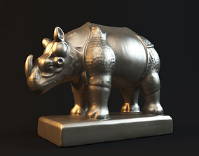 Rhinoceros statue 3D printable model culture