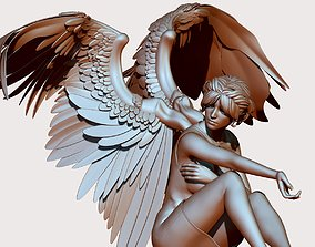 Character angel wing character 3D model