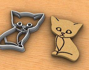 Cat Cookie Cutter 3D print model
