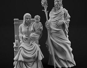 Holy family 3D printable model