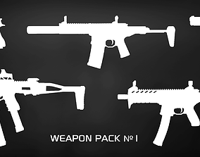 3D model realtime Weapon Pack 1