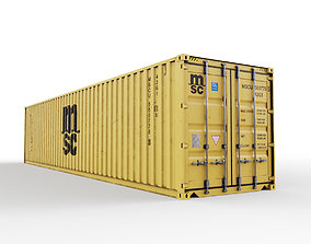 3D model 40 feet MSC standard shipping container