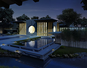 Aristocratic House with Pool 3D model