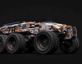 Technical Vehicle up to 8K Textures transporter 3D asset 1