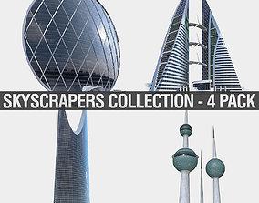 Gulf Buildings Set - 4 Pack 3D model